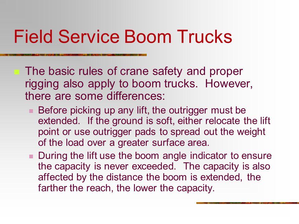 Field Service Boom Trucks