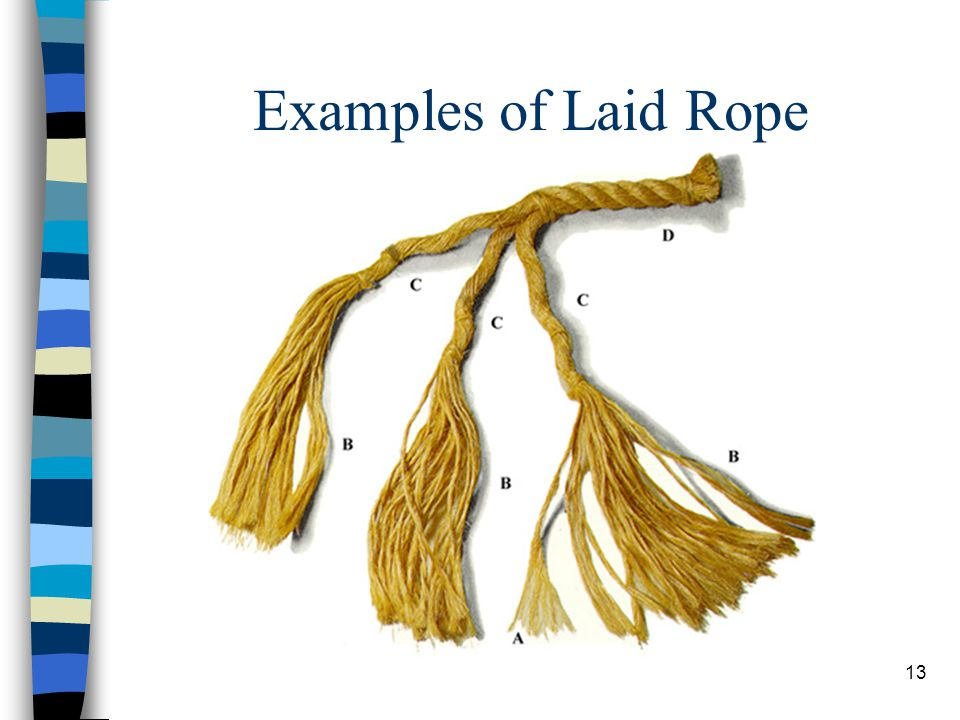 Examples of Laid Rope