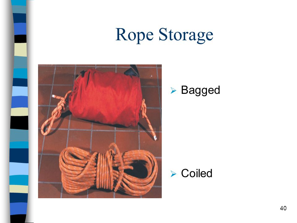 Rope Storage Bagged Coiled