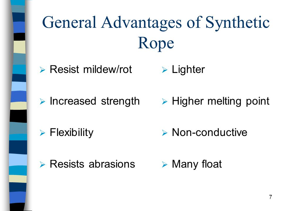 General Advantages of Synthetic Rope