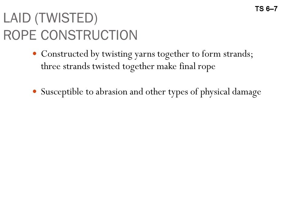 LAID (TWISTED) ROPE CONSTRUCTION