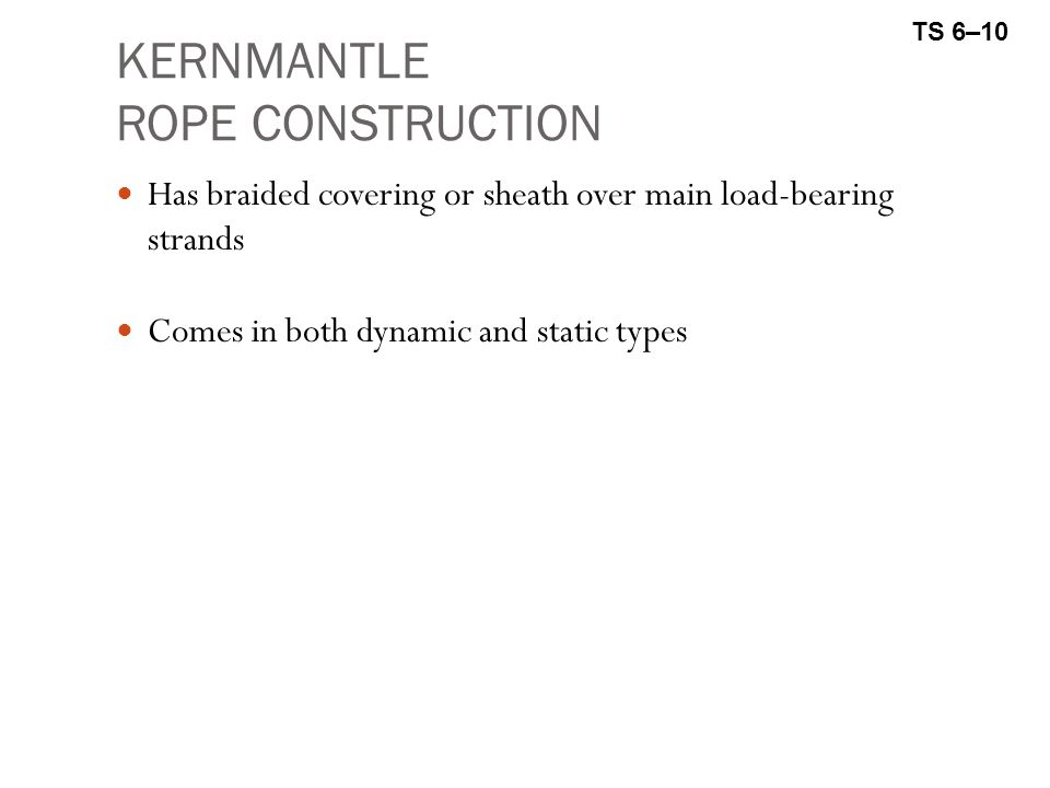 KERNMANTLE ROPE CONSTRUCTION