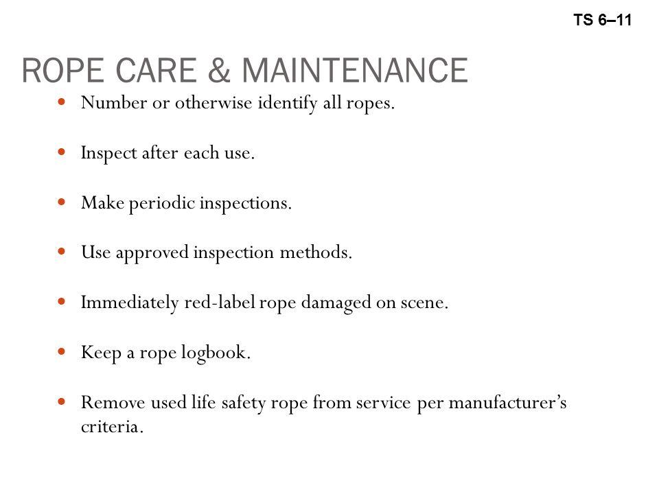ROPE CARE & MAINTENANCE