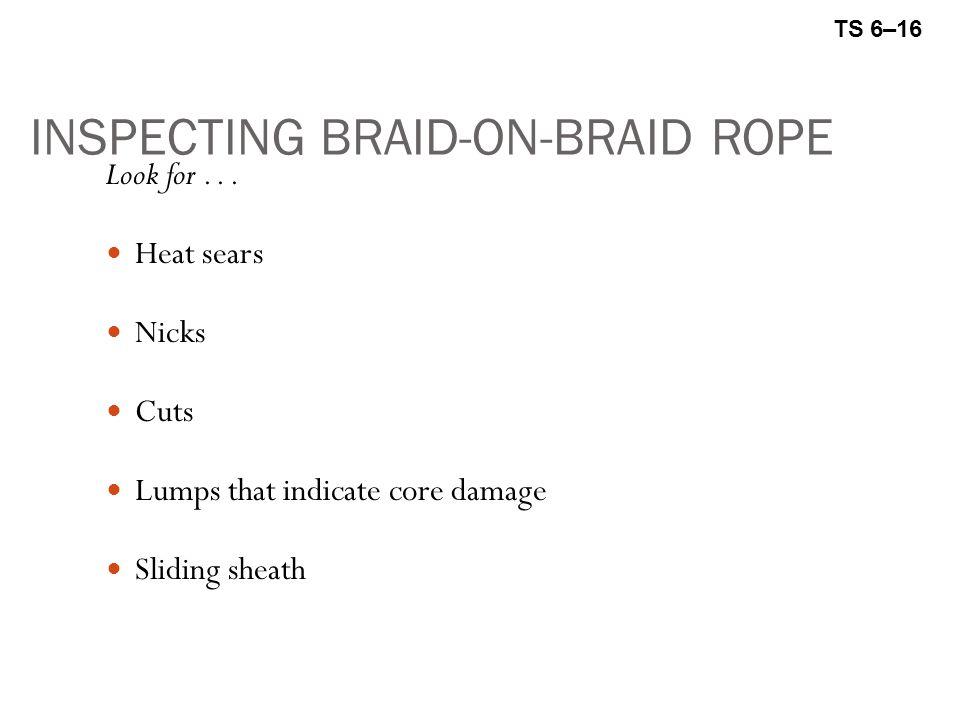 INSPECTING BRAID-ON-BRAID ROPE