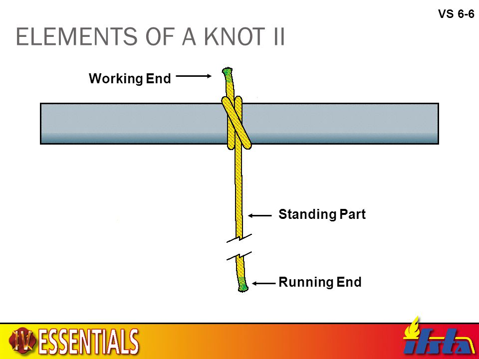VS 6-6 ELEMENTS OF A KNOT II Working End Standing Part Running End