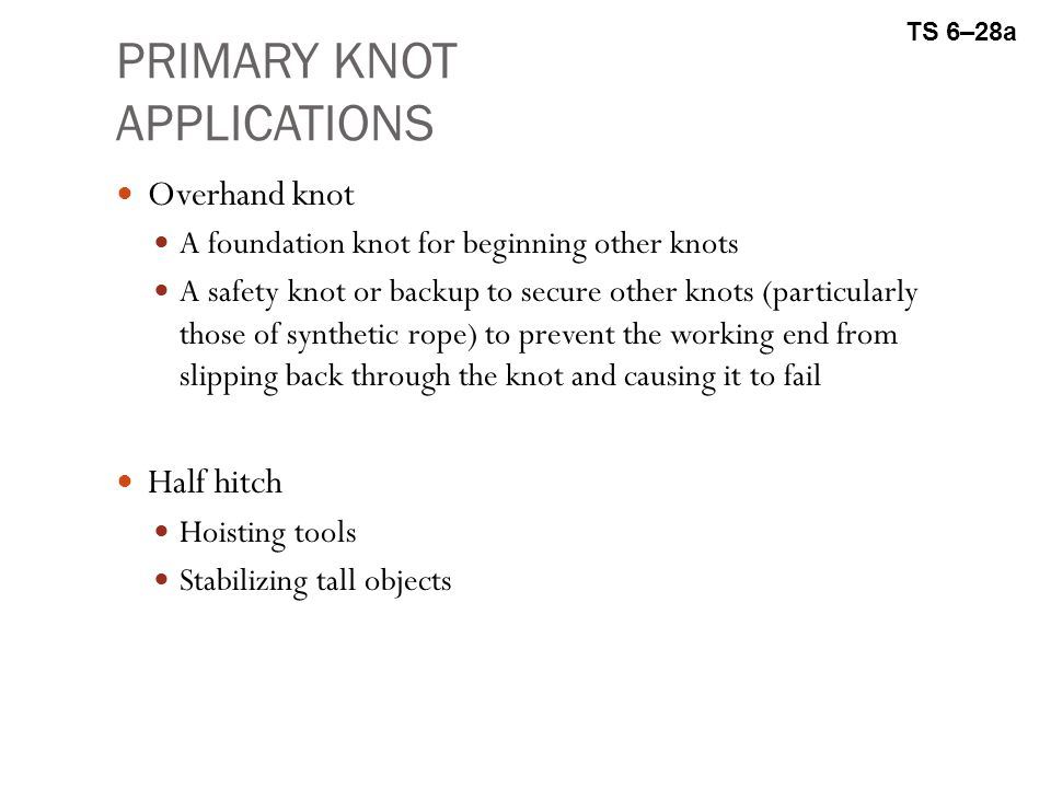 PRIMARY KNOT APPLICATIONS
