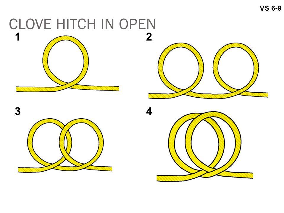 VS 6-9 CLOVE HITCH IN OPEN 1 2 3 4