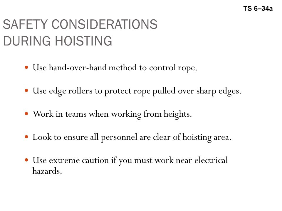 SAFETY CONSIDERATIONS DURING HOISTING
