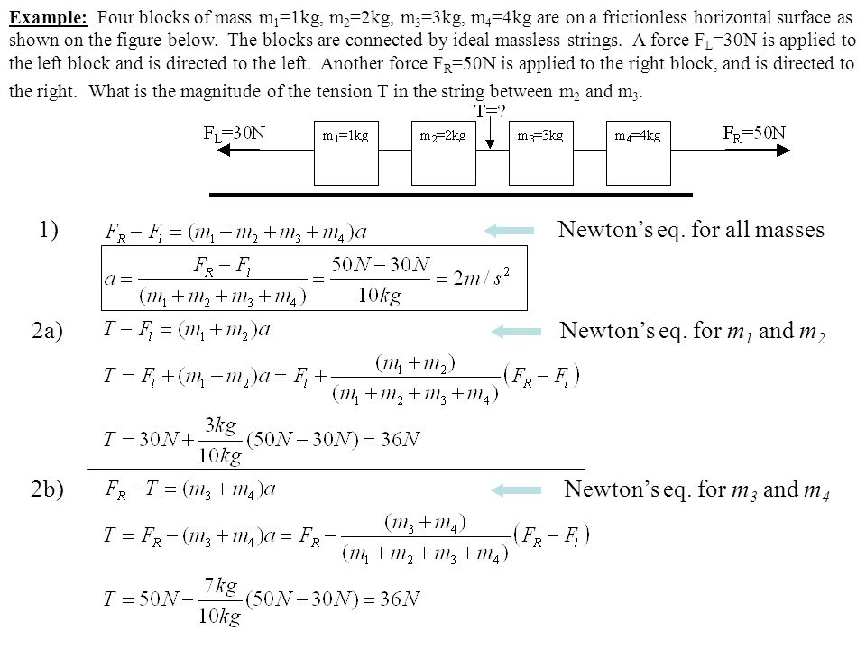 Newton's eq. for all masses