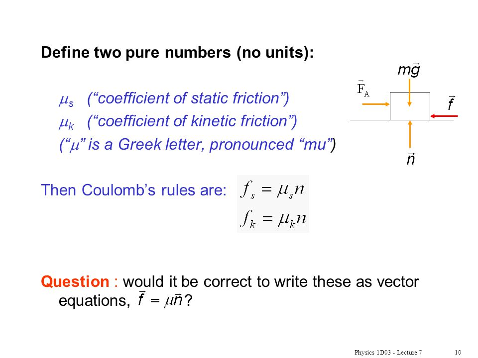 Define two pure numbers (no units):