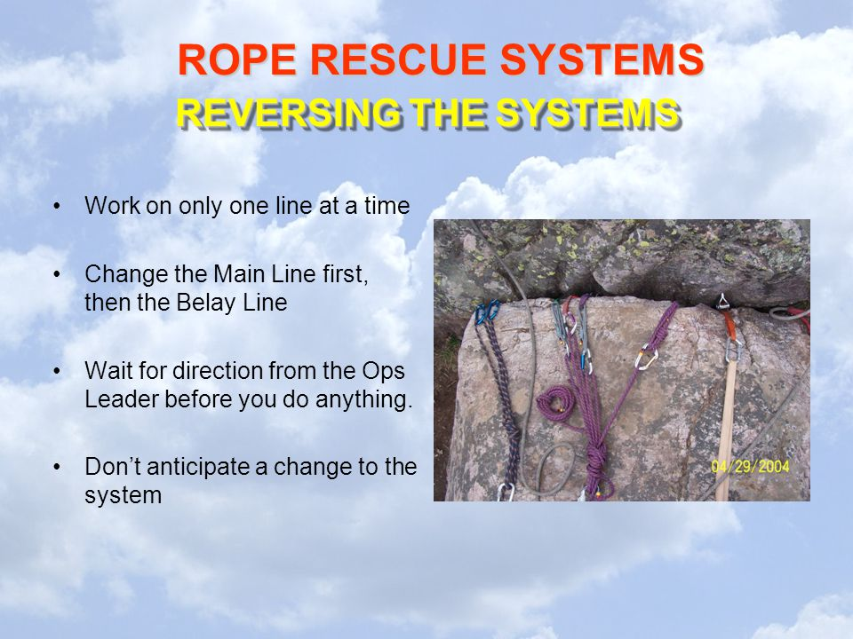 REVERSING THE SYSTEMS Work on only one line at a time