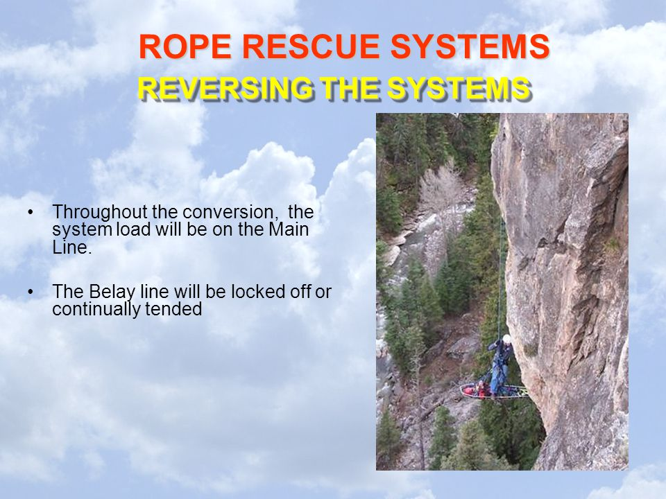 REVERSING THE SYSTEMS Throughout the conversion, the system load will be on the Main Line.