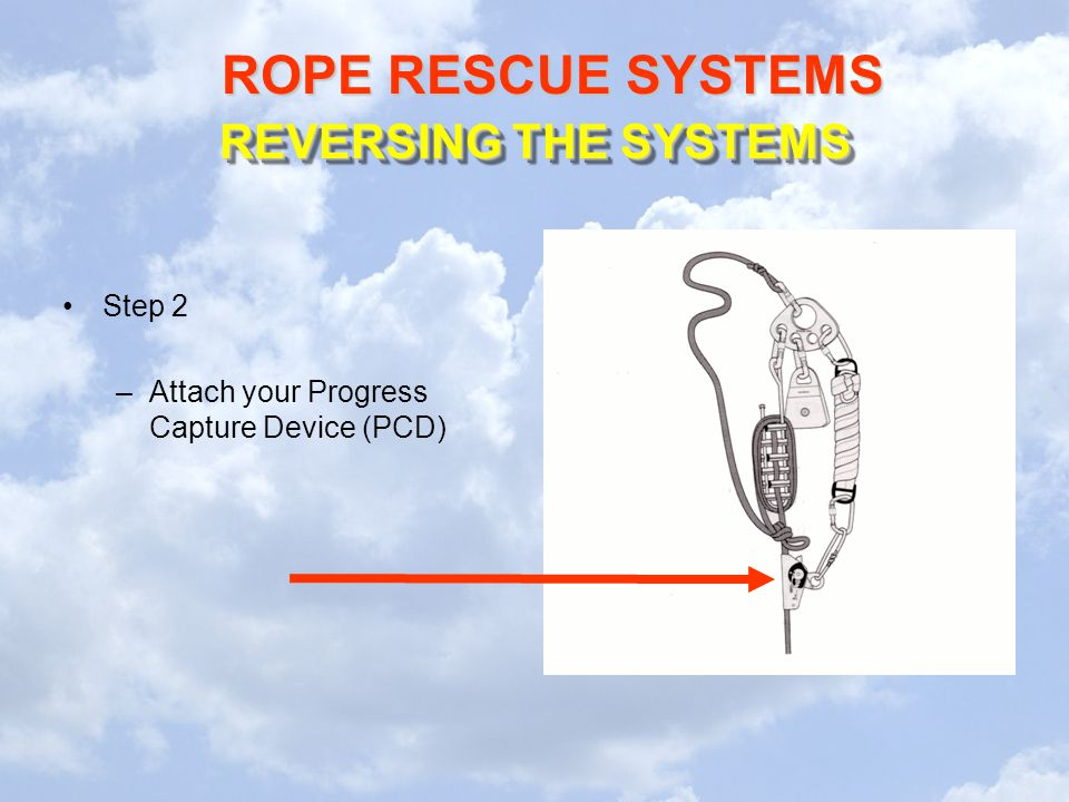 REVERSING THE SYSTEMS Step 2 Attach your Progress Capture Device (PCD)