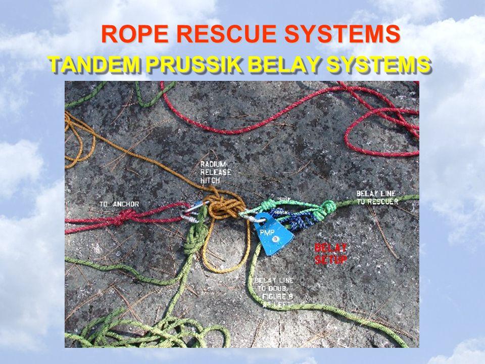 TANDEM PRUSSIK BELAY SYSTEMS
