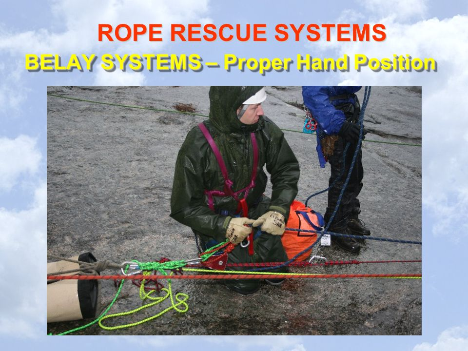 BELAY SYSTEMS – Proper Hand Position