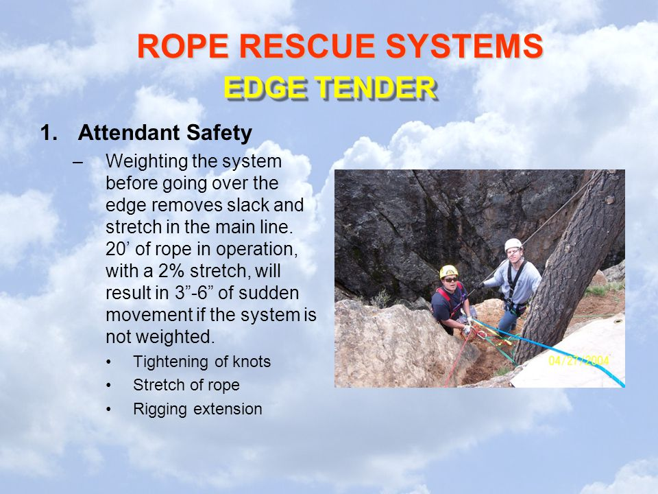 EDGE TENDER Attendant Safety