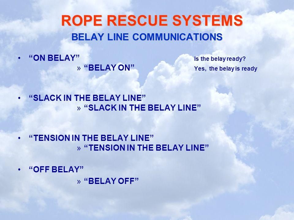 BELAY LINE COMMUNICATIONS
