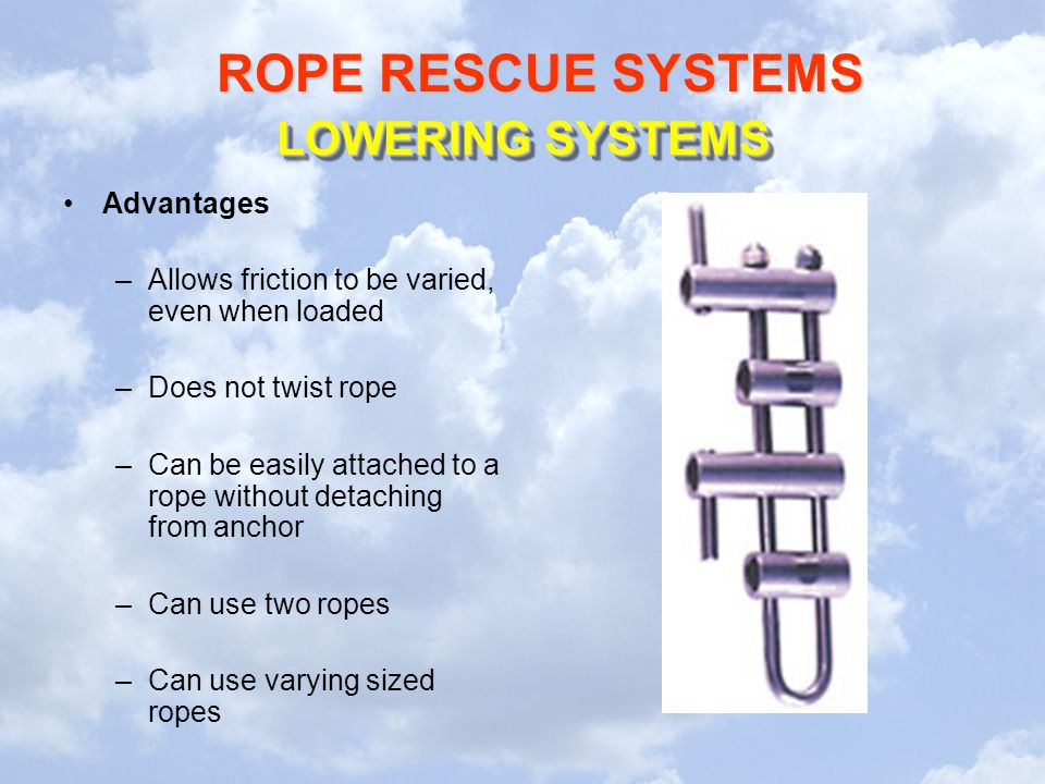 LOWERING SYSTEMS Advantages