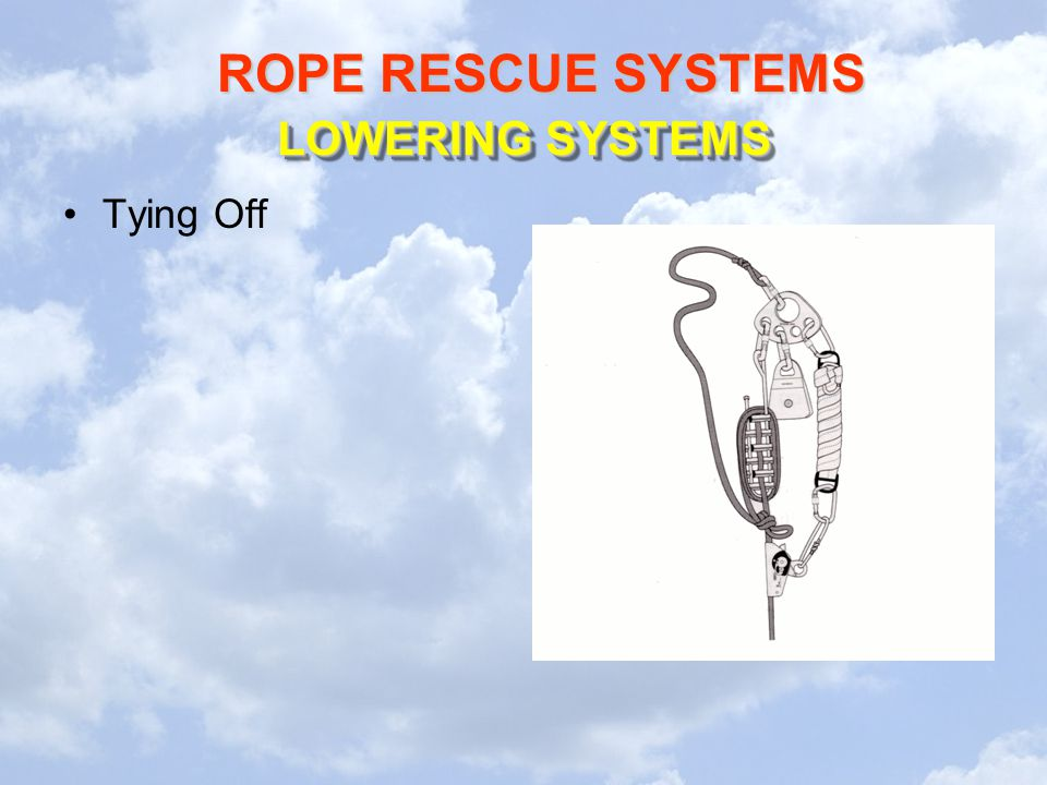 LOWERING SYSTEMS Tying Off