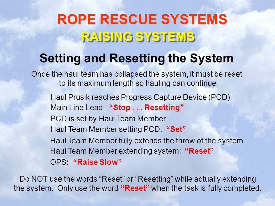Setting and Resetting the System