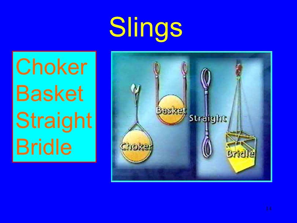 Slings Choker Basket Straight Bridle