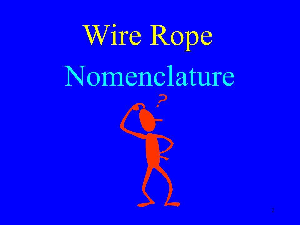 Wire Rope Nomenclature