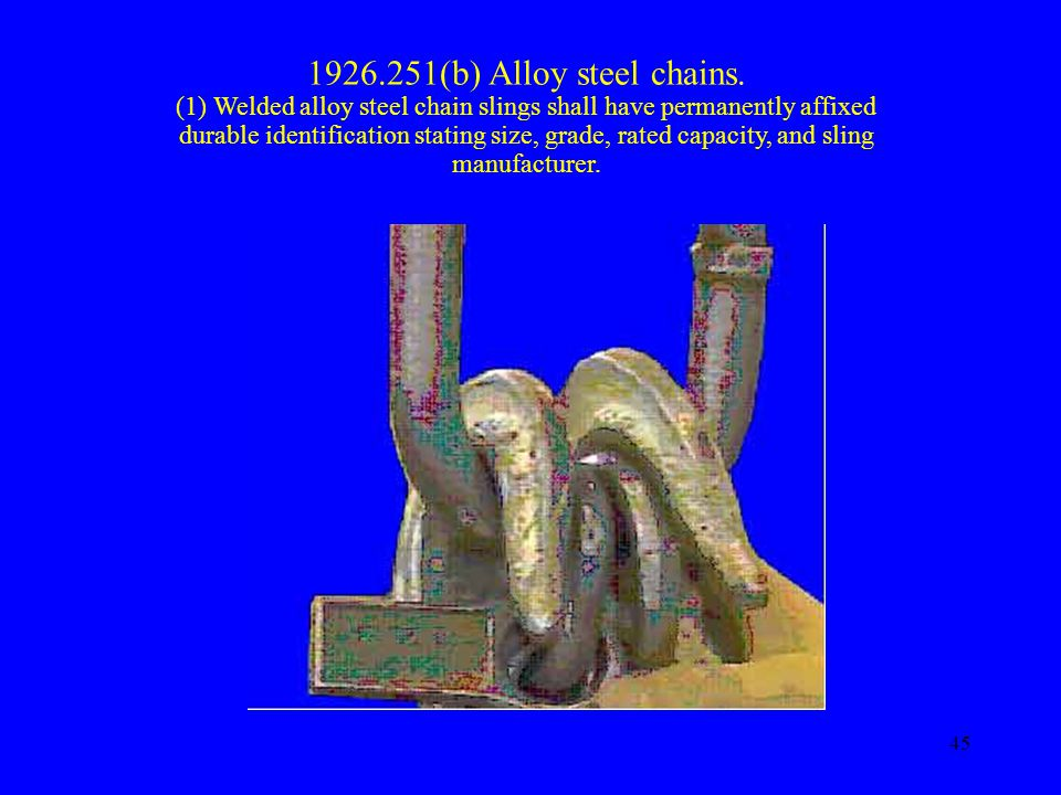 1926.251(b) Alloy steel chains.