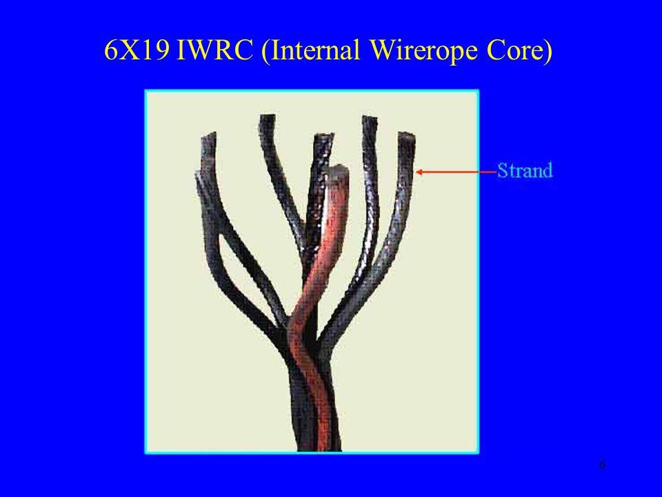 6X19 IWRC (Internal Wirerope Core)
