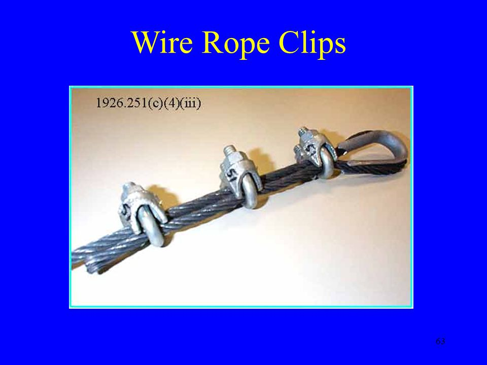 Wire Rope Clips Can only be used for non lifting purposes.
