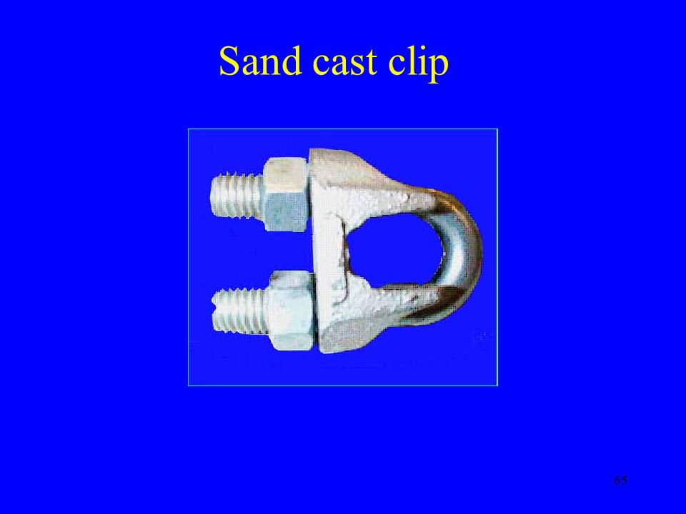 Sand cast clip Not strong not manufactured to be torqued