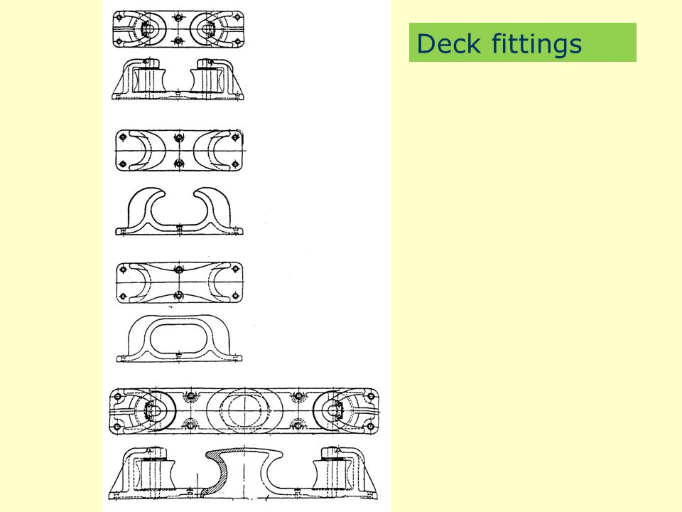 Deck fittings