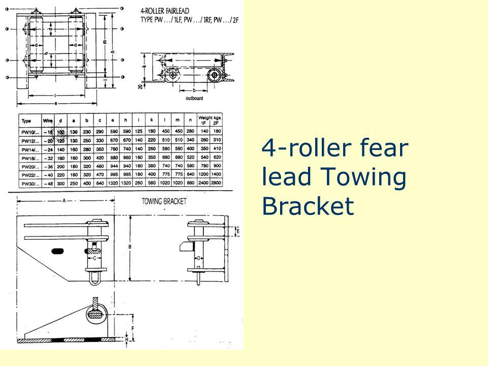 4-roller fear lead Towing Bracket