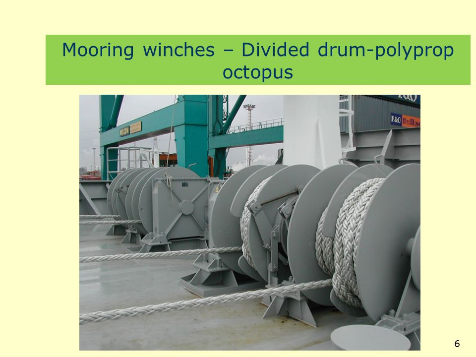 Mooring winches – Divided drum-polyprop octopus