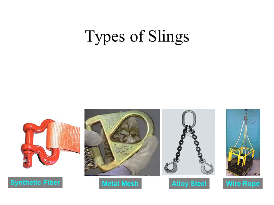 Types of Slings Synthetic Fiber Metal Mesh Alloy Steel Wire Rope