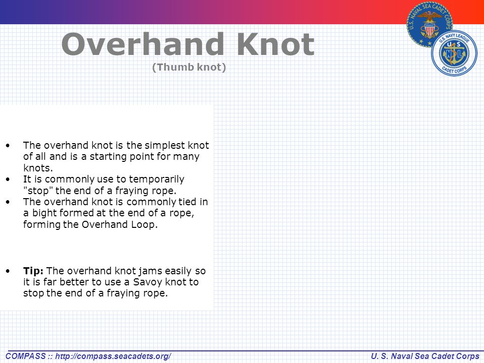 Overhand Knot (Thumb knot)