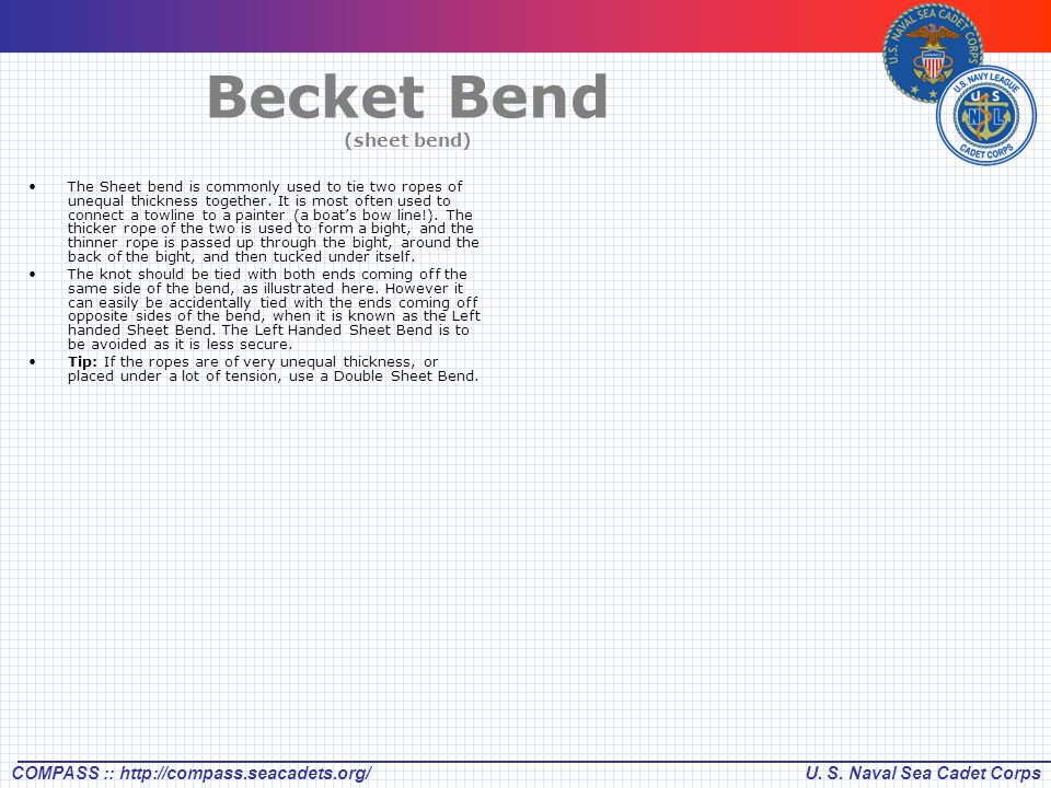 Becket Bend (sheet bend)