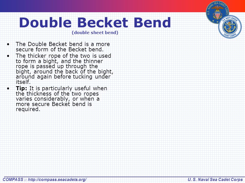 Double Becket Bend (double sheet bend)