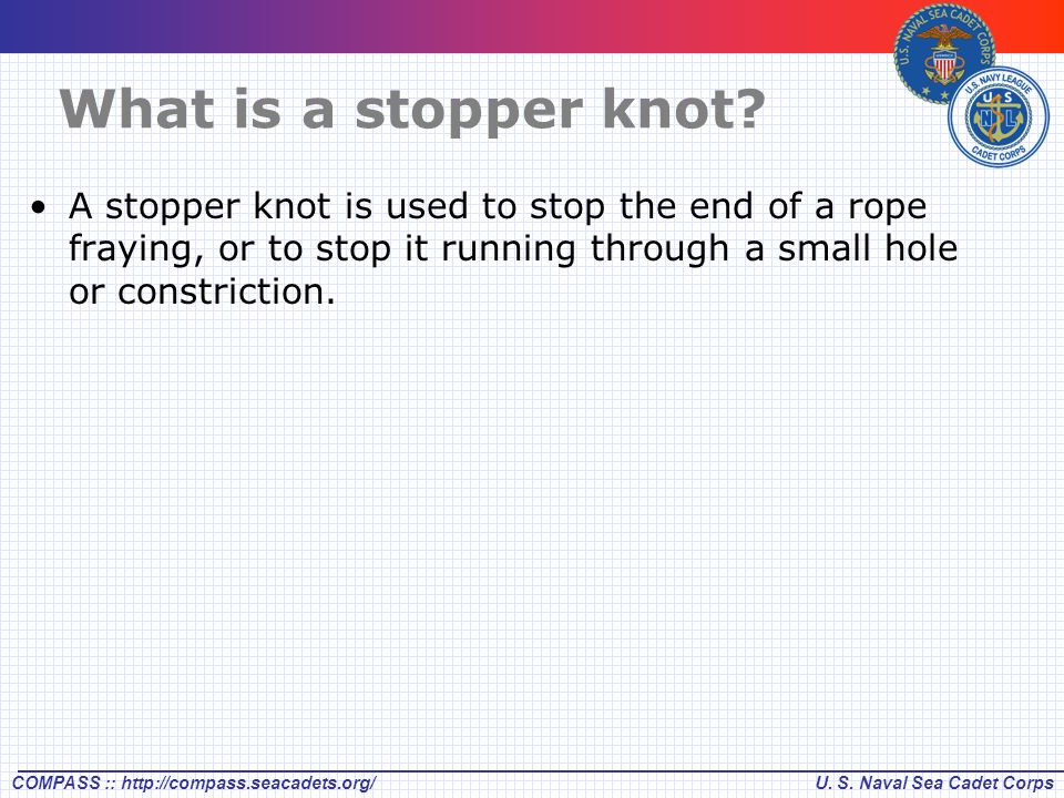 What is a stopper knot.