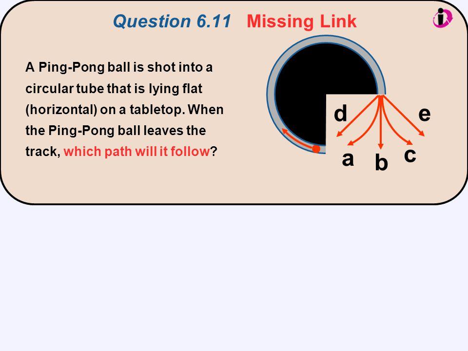 d e c a b Question 6.11 Missing Link