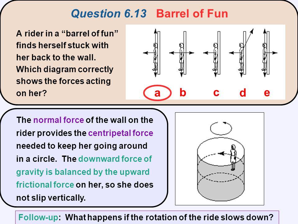 Question 6.13 Barrel of Fun a b c d e