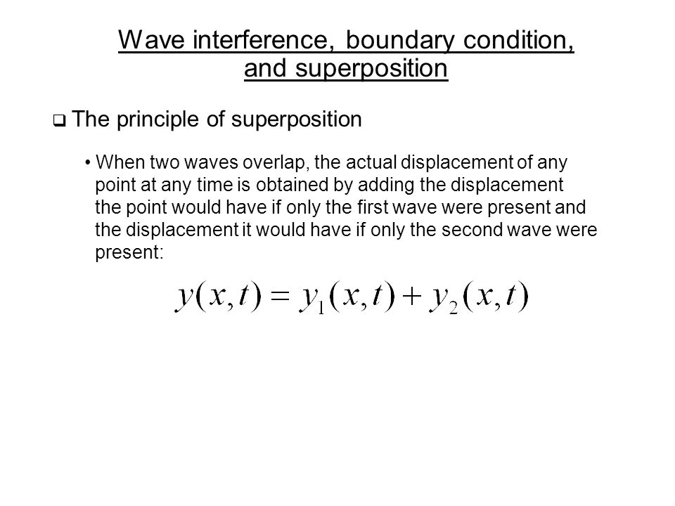 Wave interference, boundary condition, and superposition
