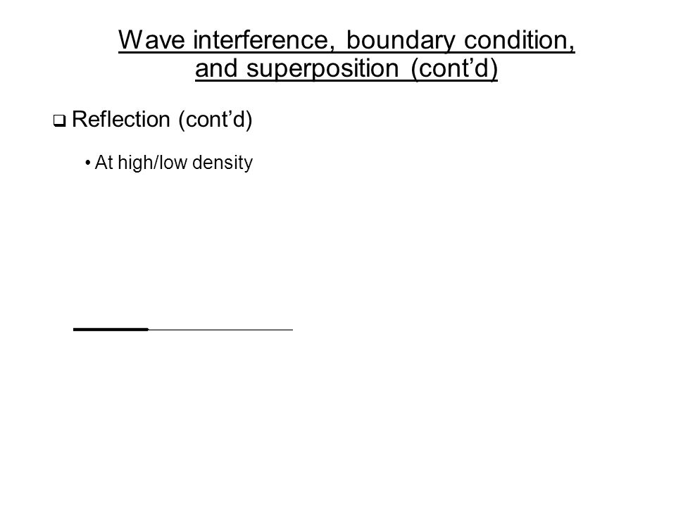 Wave interference, boundary condition, and superposition (cont'd)