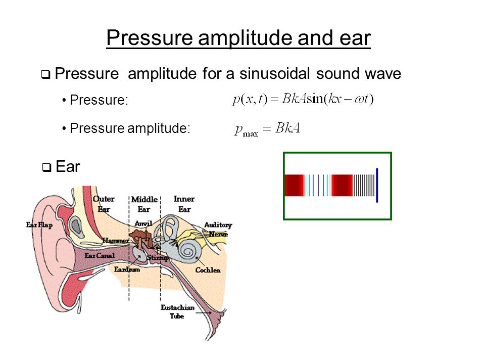 Pressure amplitude and ear