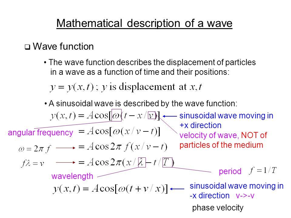 Mathematical description of a wave
