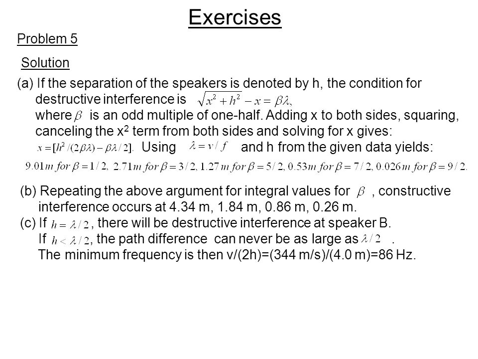 Exercises Problem 5 Solution