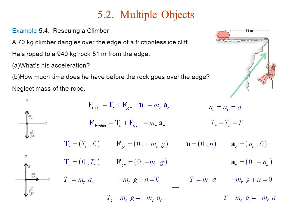 5.2. Multiple Objects  Example 5.4. Rescuing a Climber