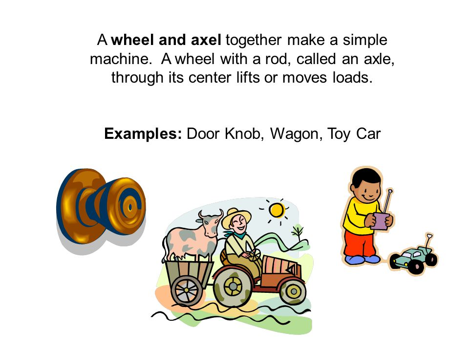 Examples: Door Knob, Wagon, Toy Car