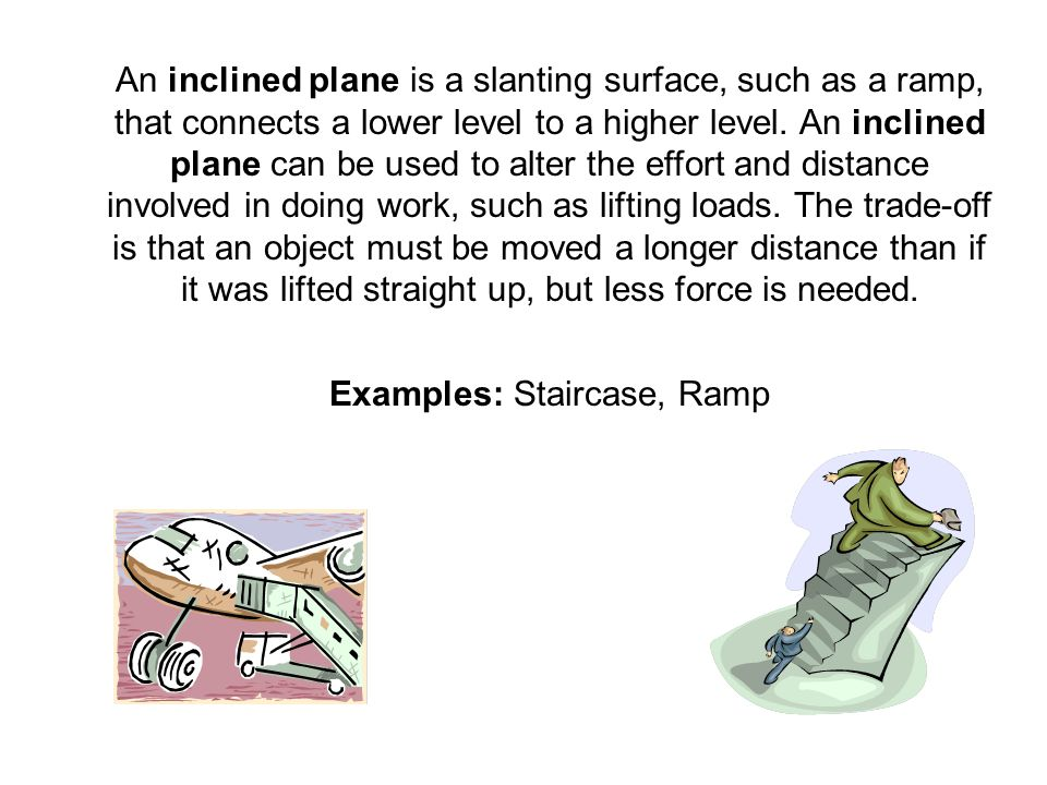 Examples: Staircase, Ramp
