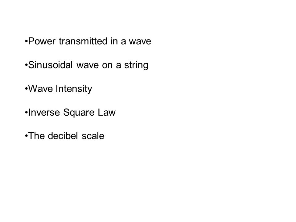 Power transmitted in a wave