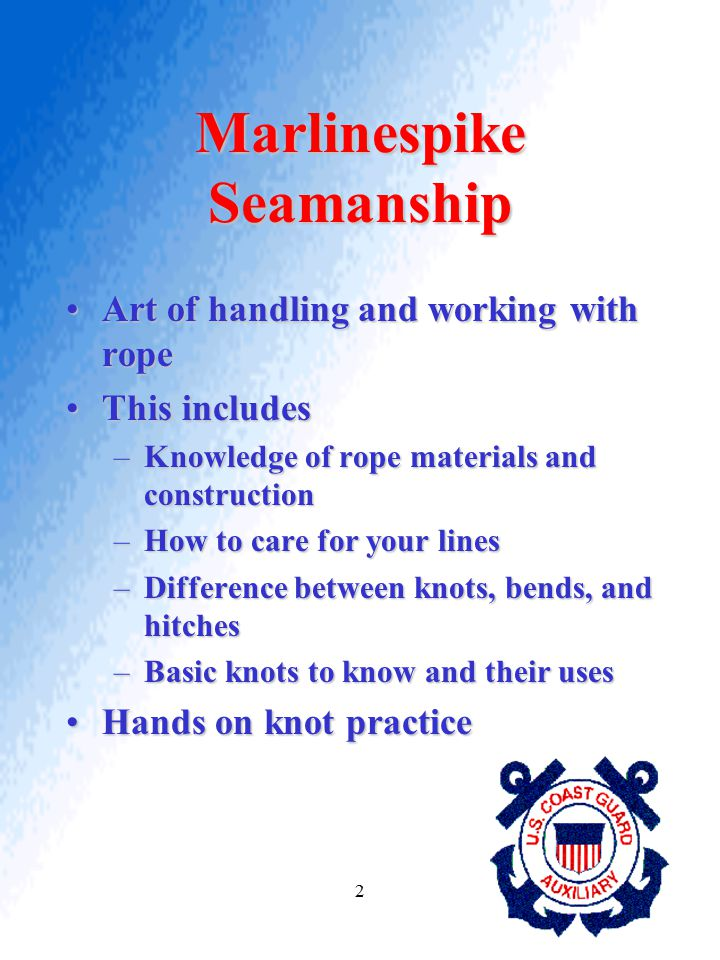 Marlinespike Seamanship
